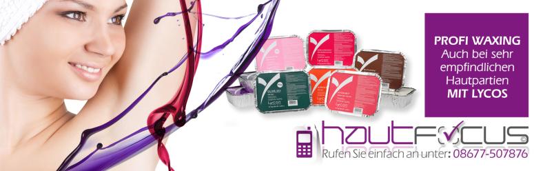 Waxing Burghausen Bayern / Kosmetikstudio hautFOCUS: Lycon Wachs ganz besonders auch für empfindliche Hautflächen geeignet.