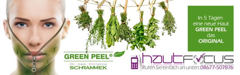 Green Peel Burghausen Bayern / Kosmetikstudio hautFOCUS: In 5 Tagen eine neue Haut mit der vollen Kräuterpower.