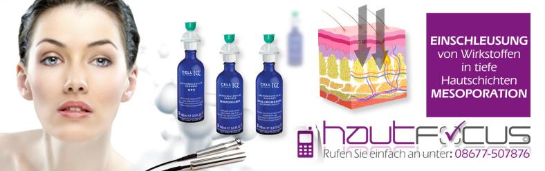 Mesoporation Burghausen Bayern / Kosmetikstudio hautFOCUS: Die derzeit effektivste Methode zur Einschleusung von Wirkstoffen im Bereich der dermazeutisch-ästhetischen Kosmetik.