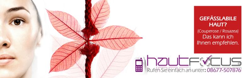 Couperose Burghausen Bayern / Kosmetikstudio hautFOCUS: VEGFstop, stoppt die Gesichtsrötungen, stärkt die Gefäße und lindert entzündliches Geschehen.