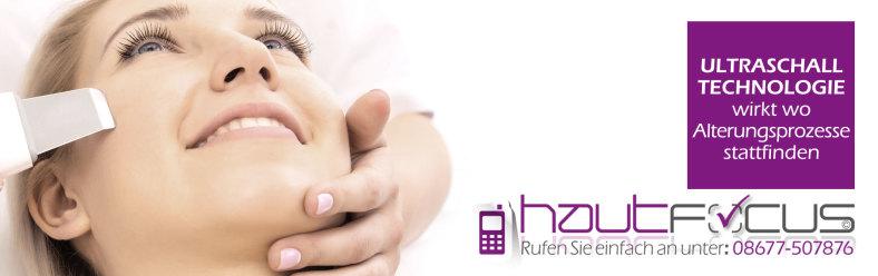 Ultraschall Burghausen Bayern / Kosmetikstudio hautFOCUS: Ultraschallwellen wirken dort wo Alterungsprozesse stattfinden.